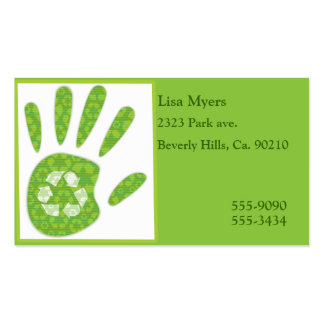 A Hand In Recycling Business Card