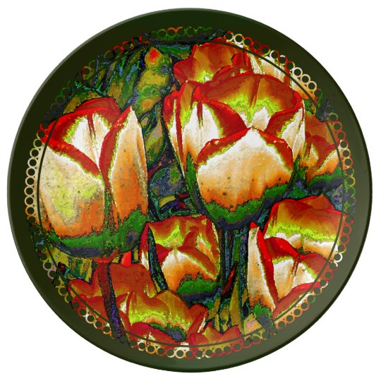 A Handfull of Tulips 2 Porcelain Plate