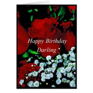 A Happy Birrthday Darling card