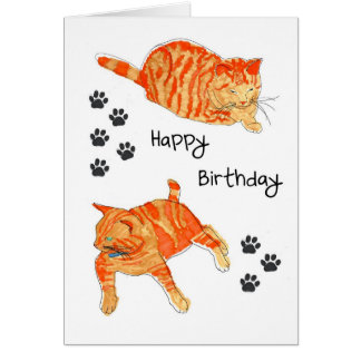 A Happy Birthday card. Card