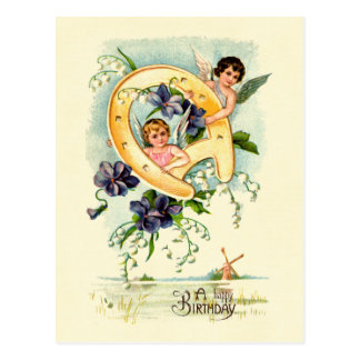 A Happy Birthday Cherub Greeting Postcard