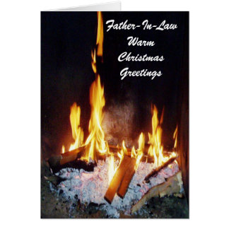 A Happy Christmas Father-in-Law Card Fire