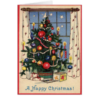 A Happy Christmas Tree Holiday Greeting Card