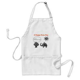 A Happy Cozy Day of an Elephant and his Friends Standard Apron