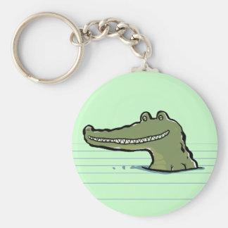 A happy crocodile keychain
