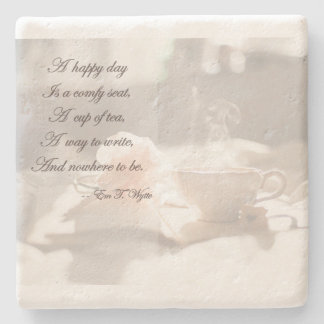 A Happy Day Writing Stone Coaster