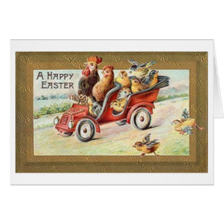 A Happy Easter! Victorian Easter Greeting Card. Greeting Card