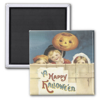 A Happy Halloween Vintage Magnet