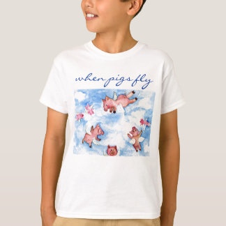 a Happy Herd of Flying Pigs T-Shirt