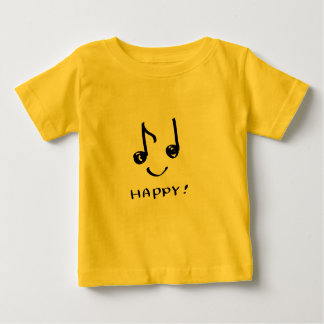 a happy music note baby T-Shirt