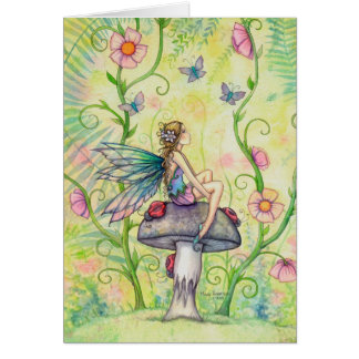 A Happy Place Flower Fairy Fantasy Art Card