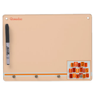 A Happy Thanksgiving Dry Erase Board With Keychain Holder