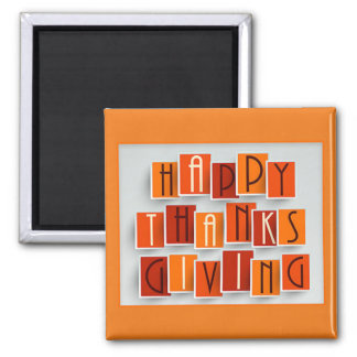 A Happy Thanksgiving Magnet