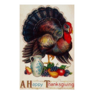 A Happy Thanksgiving Poster