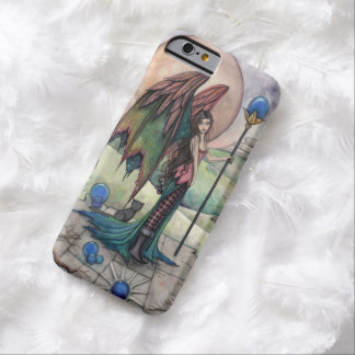A Harvest Moon Fairy and Cat Faerie Fantasy Art Barely There iPhone 6 Case