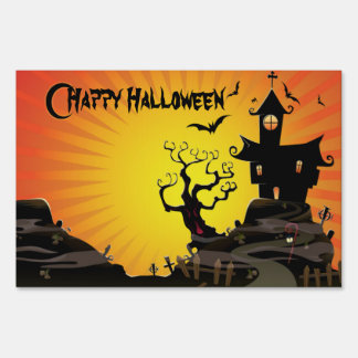 A Haunted House Sign