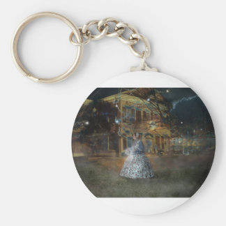 A Haunted Tale in Dahlonega Basic Round Button Keychain