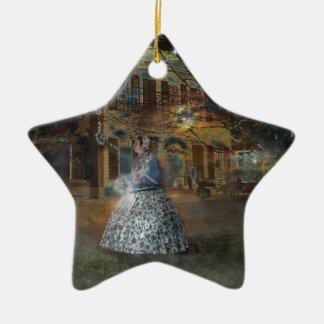 A Haunted Tale in Dahlonega Ceramic Ornament