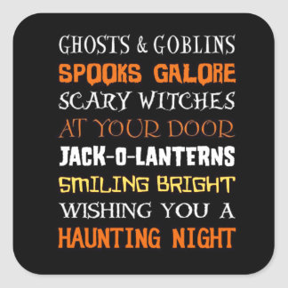 A Haunting Night Halloween Stickers