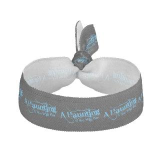 A Haunting We Will Go LLC Blue Logo Hair Tie