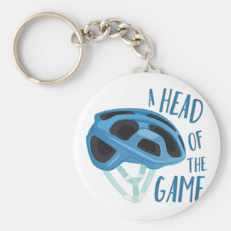 A Head Of Game Basic Round Button Keychain