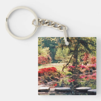 A Healing Path & A Healing Place Double-Sided Square Acrylic Keychain