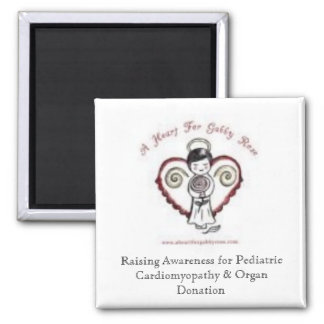 A Heart For Gabby Rose Square Magnet