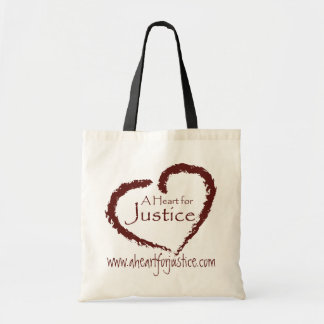 A Heart for Justice book bag