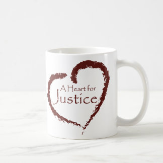 A Heart for Justice mug