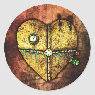 A Heart Less Broken Gothic Art Stickers