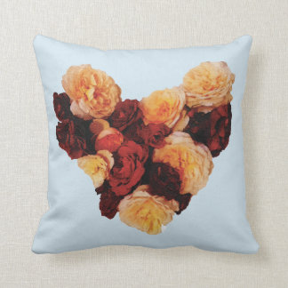 A heart of roses throw pillow