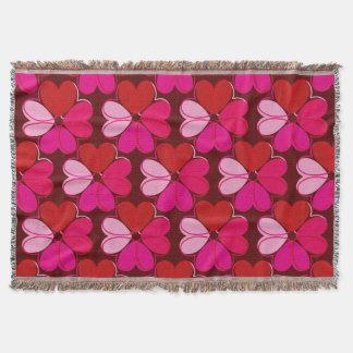 A Heartfelt Flower Throw Blanket