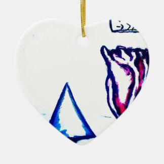 A Heart's Victory by Luminosity Ceramic Heart Ornament