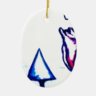 A Heart's Victory by Luminosity Ceramic Oval Ornament