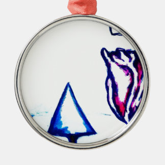 A Heart's Victory by Luminosity Silver-Colored Round Ornament
