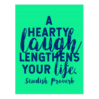 'A Hearty Laugh' Swedish Proverb on Laughter Postcard