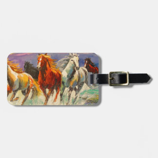 A herd of horses bag tag