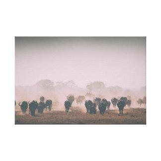 a herd of wild animals canvas print