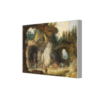 A Hermit before a Grotto by  Jan Brueghel the Elde Canvas Print