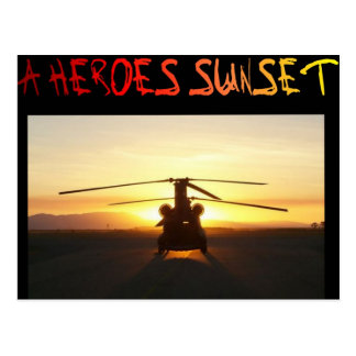 A Heroes Sunset Postcard