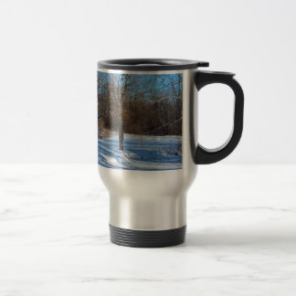 A Heron in the Distance Travel Mug