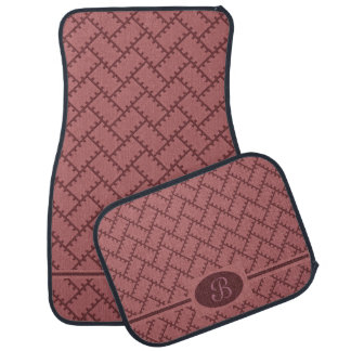 A Herringbone Pattern 10 Car Mat