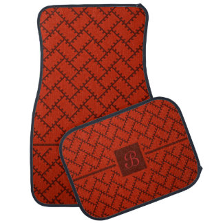A Herringbone Pattern 15 Car Mat