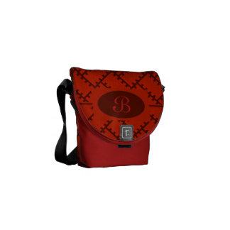 A Herringbone Pattern 15 Messenger Bag