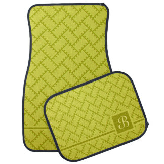 A Herringbone Pattern 7 Car Mat