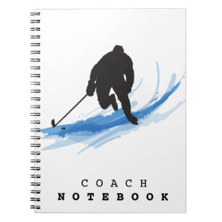 A Hockey Player on ice Notebook