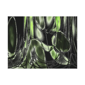 A Hole In The Wall - Cacti Canvas Print