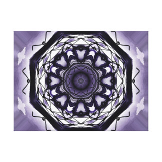 A Hole In The Wall - The Enchanted Purple Canvas Print