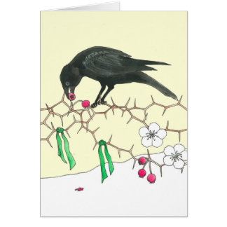 A Holiday Crow Notecard