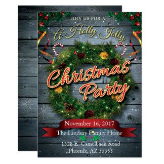 A Holly Jolly Christmas Party Card